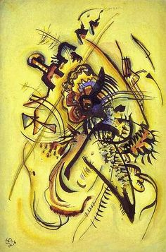 To the Unknown Voice (1916) | Wassily Kandinsky (1866–1944) | Watercolor and ink on paper, (9.3 × 6.2 in)