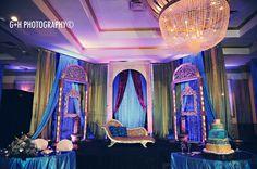 wedding stage for an Indian wedding. Wedding decor #wedding