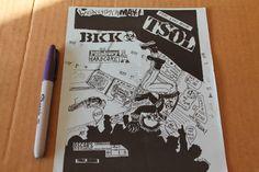 Vintage Punk TSOL BKK Pillsbury Hardcore 6x8in. Original 1980 s Flyer Poster