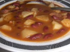 Portuguese Bean Soup from Food.com: Posting for the ZWT ( Portugal) This recipe is different then the others posted since there is no meat except bacon fat. Times are approximate and I am not sure of the servings