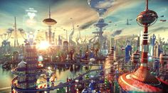 3D-Rendered Futurama Remix Delivers Jaw-Dropping Sci-Fi Vista   The Creators Project