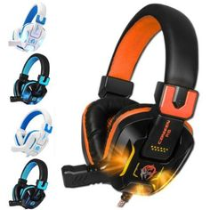 (*** http://BubbleCraze.org - The latest hot FREE Android/iPhone game ***)  Canleen Headphone R8 Heavy Bass Computer Games LED Earphone Microphones Headset