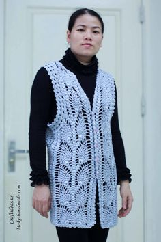 crochet beauty lace pineapple jacket and vest | make handmade, crochet, craft