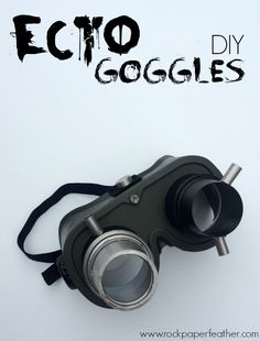 Rock Paper Feather: Ecto Goggles - DIY. Perfect for a Ghostbusters Halloween