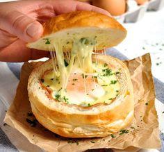 La recette du b ol de pain au jambon, oeuf et fromage