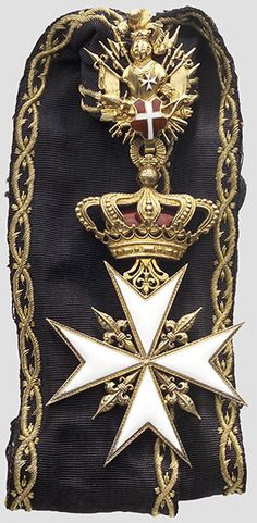 Lot: The Sovereign Order of the Knights of Malta, Lot Number: Starting Bid: Auctioneer: Hermann Historica GmbH, Auction: Selected historical objects & ancient helmets, Date: October 2005 EDT Knights Hospitaller, Knights Templar, Royal Jewels, Crown Jewels, Knights Of Honor, Military Decorations, Military Orders, Grand Cross, Templer