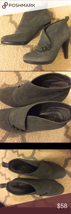 FED High heel Gray bootie High heel gray bootie, used only a few times, size 6. Italy leather Shoes Ankle Boots & Booties