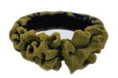 Tzuri Gueta-silicone-bijou-bracelet-velours-vert