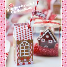 Printable Gingerbread House Wonderland Collection from milk cartoon