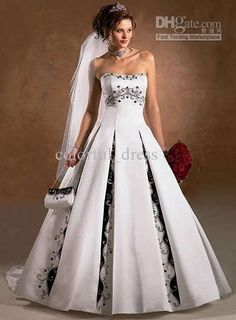 Wholesale New white black wedding dress evening dress bridesmaid dress All Sizes, $159.14-167.9/Piece | DHgate