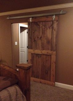 Rustic Pine Barn Door W Industrial Steel Hardware On Etsy, $450.00