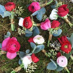 Winter Ranunculus Buttonholes