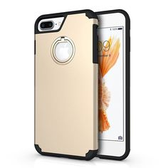 APPLE IPHONE 7 PLUS INVISIBLE RING HYBRID PC + TPU COVER CASE - BLACK/GOLD/ROSE GOLD