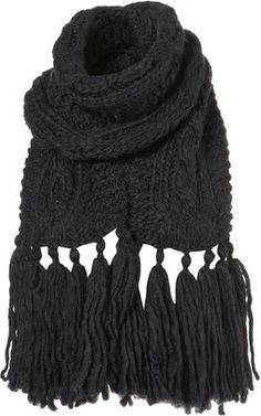 d2f25964c853e Topshop Cable Scarf - ShopStyle Scarves. Fringe ScarfScarf WrapKnitted ...