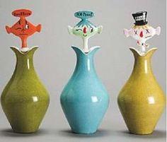 Eames Era Holt Howard Liquor Decanters