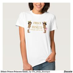 Ethnic Prince Princess Gender Reveal Shirt