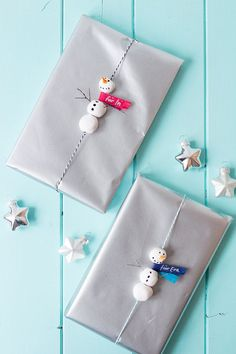 Snowman Gift Wrapping Idea