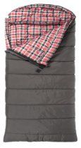 The TETON Sports Celsius is a spacious sleeping bag that seems like a portable bed, especially when paired with the TETON Sports Outfitter XXL Camp Pad. The warm flannel lining retains body heat.