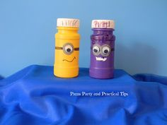 Despicable Me Party Favors. So cute, clever and easy! Everything I LOVE for a DIY project!