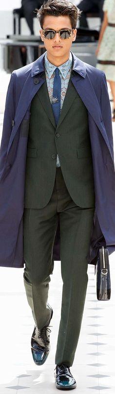 Burberry Prorsum Menswear Spring-Summer | Men's Fashion & Style | Moda Masculina | Shop at designerclothingfans.com