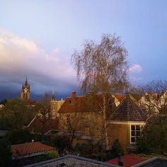 Pretty skies #photo #sunset #sky #lucht #delft