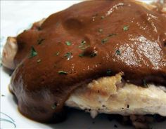 Make and share this Classic Mole Poblano Sauce With Chicken recipe from Genius Kitchen. Mole Poblano Recipe, Sauce Recipes, Chicken Recipes, Crockpot Recipes, Turkey Enchiladas, Mole Sauce, Almond Chicken, Mexican Food Recipes, Mexican Dishes
