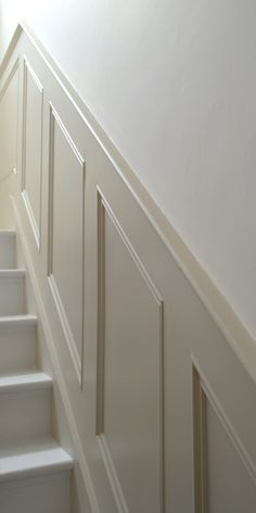 Classic Panels For Stairs paneling on stairs and dining room – staircase Stair Paneling, Wall Panelling, Paneling Walls, Floors, Paneling Makeover, Basement Stairs, Basement Ideas, Dark Basement, Basement Layout
