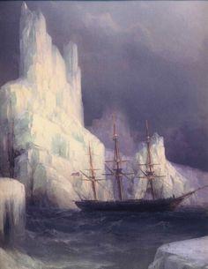 Icebergs in the Atlantic by Ivan Aivazovsky
