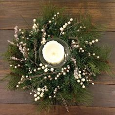 Christmas Centerpiece – A Smith of All Trades Christmas Arrangements, Christmas Table Settings, Christmas Table Decorations, Diy Wedding Decorations, Candle Decorations, Winter Centerpieces, Wedding Centerpieces, Christmas Tree Farm, Christmas Is Coming