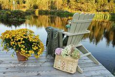 enjoying the pond in autumn