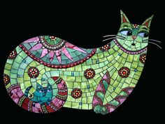 Gallery of stained glass mosaic animals by Santa Barbara, CA artist Christine Brallier. Mosaic Crafts, Mosaic Projects, Mosaic Art, Mosaic Glass, Mosaic Tiles, Fused Glass, Rock Mosaic, Glass Beads, Mosaic Mirrors