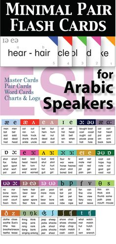 With this set you will have a flexible resource for assessments and utilize in pronunciation activities.   This card set targets the most problematic pronunciation issues for Arabic speakers of English as a second language.