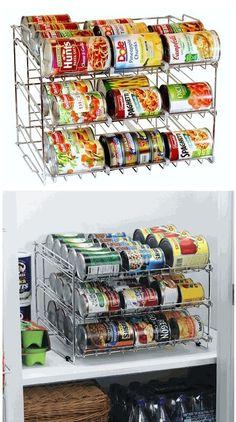 SUPER! Stackable Can Organizer! Kitchen Organization Ideas