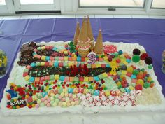 Candy Land Cake Can you believe it that was when I was three and now I'm nine