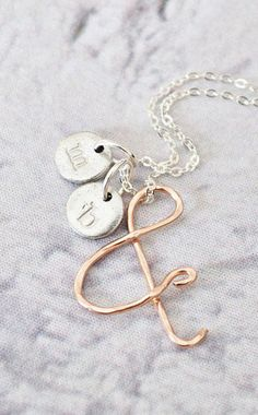 You & Me 14K Rose Gold Ampersand Necklace