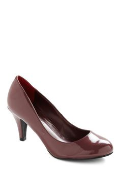 Red Eye Carumba Heel | Mod Retro Vintage Heels | ModCloth.com. Love the deep red color. These shoes stand out and can be paired with so many professional looks. (#8 Work-perfect ModCloth shoes) #modcloth #makeitwork