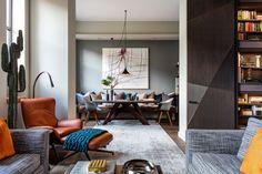 Gentleman's Quarters by Daniel Hopwood – modern living space. Masculine interior design