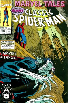 """Cool Comic Art on Twitter: """"Marvel Tales #253 cover by Moebius & Sylvain Despretz, 1991… """""""