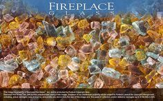 Autumn Premixed Diamond Fireplace Glass