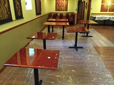 After picture-Refinishing Tables at Supatra's Thai Cuisine