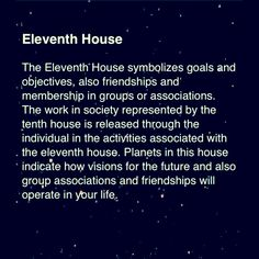 (11th house)  #Eleventh #Astrology For more Zodiac related posts, please check out my FB page:  https://www.facebook.com/TheZodiacZone