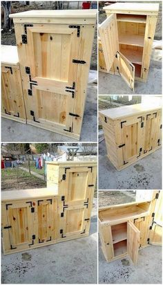 Pallet Wood Projects - DIY Furniture, cabinets, dressers #diydresserpallet