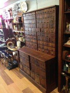 antique furniture/apothecary/general store candy cabinets...i am pinning this under this board just because it is an apothecary piece....might have to change my heading later the location of this is in Texas