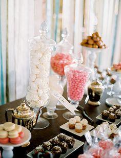dessert bar.