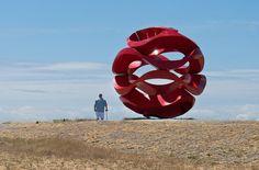 Olas de Viento (Wind Waves) by Yvonne Domenge Located at Garry Point Park, Steveston Richmond, British Columbia, Canada