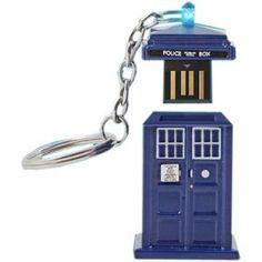 TARDIS Light Up USB Stick  I want this!!!!