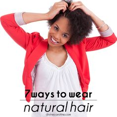 Ditch the relaxers this summer and try one of these natural hair looks! #blackhair #hairstyles #curlyhair