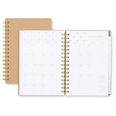 Sugar Paper® Kraft Weekly Planner, 2017 - Textured Dots : Target