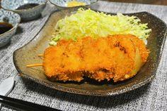 【栗原はるみさん】「串カツ」を作った感想。ネギとたまねぎ入りの食べごたえのある串カツです。