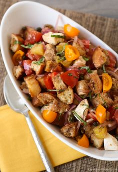 Panzanella - One of my favorite salads for a group!